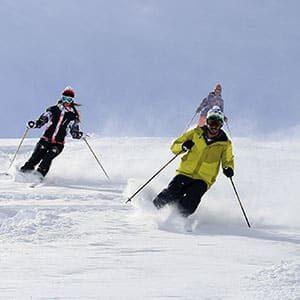 Photo tourisme de skieurs aux Arcs