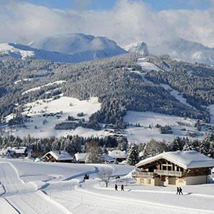 Paysage de Neige en Haute Savoie