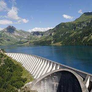 Agence Photo : Image du barrage de Cormet de Roselend