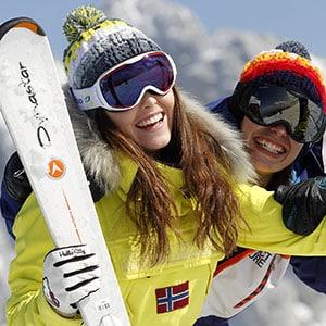 Photo pour une marque de skieuse dans le Vercors