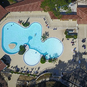Agence Photo : Drone Vue Piscine