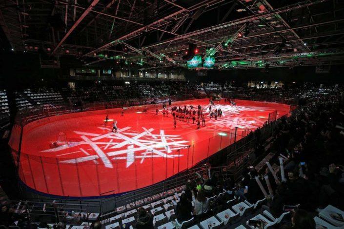 La patinoire de l'Aren Ice à Cergy Pontoise