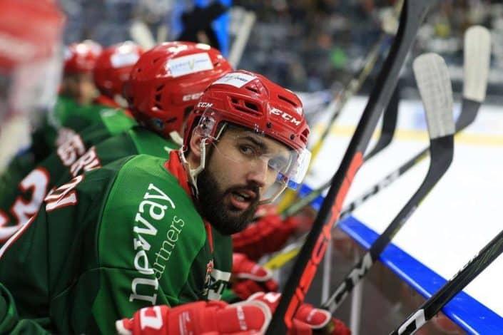 Portrait d'un joueur de Hockey